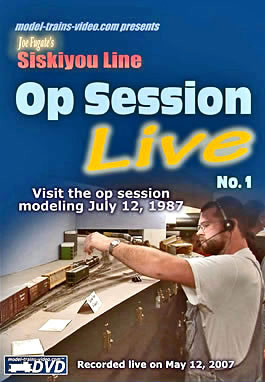 Model trains video - Siskiyou Line Model Railroad Op Session LIVE no.1