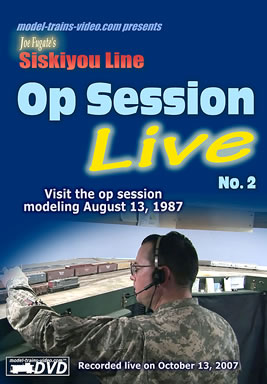 Model trains video - Siskiyou Line Model Railroad Op Session LIVE no.2
